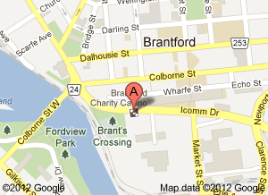 Brantford Charity Casino Map