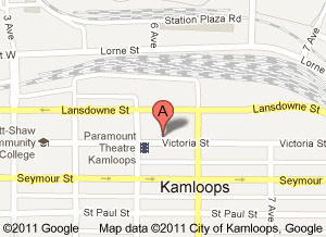 Lake City Casino Kamloops Map